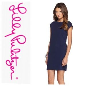 Lily Pulitzer Robyn Tshirt Dress Navy Blue Sz S